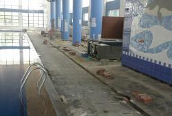 Obras en la piscina municipal de Calp